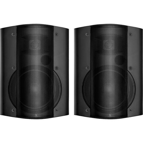OWI Inc. Surface Mount Speaker Set with 115V Power Supply (Black)