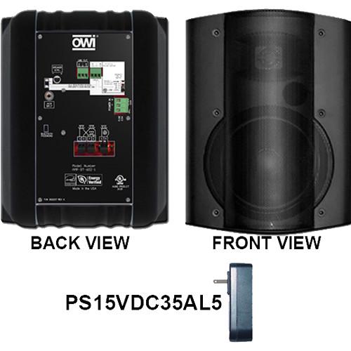 OWI Inc. Self-Amplified Surface Mount Bluetooth Speaker (Black)