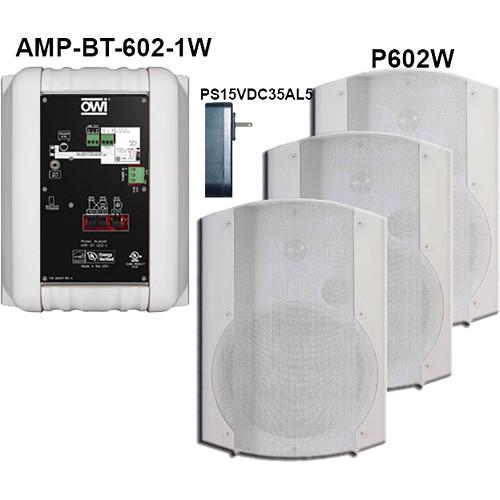 OWI Inc. AMP-BT-602-4W Surface Mountable Bluetooth Speaker Kit (White)