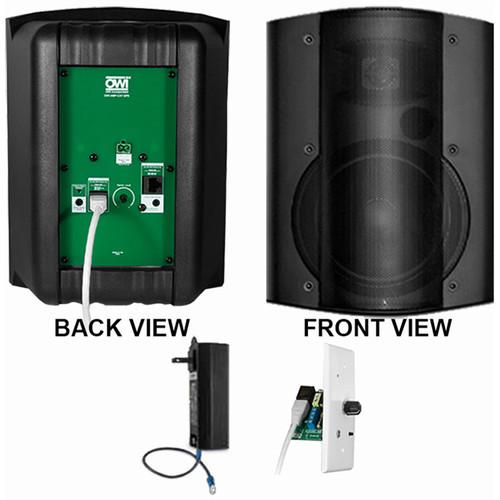 OWI Inc. 1 Each Amp-Cat602B Speaker (Black) W/ Bluetooth Volume Control