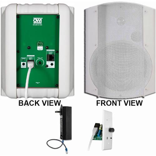 OWI Inc. 1 Each Amp-Cat602B Speaker (White) W/ Bluetooth Volume Control