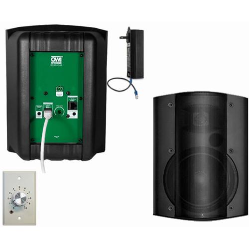 OWI Inc. 2 Each Amp-Cat602B Speaker (Black) W/ Ampstvc