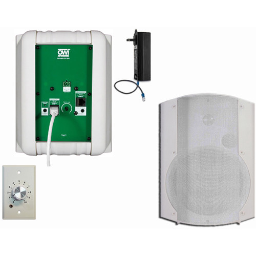 OWI Inc. 2 Each Amp-Cat602B Speaker (White) W/ Ampstvc