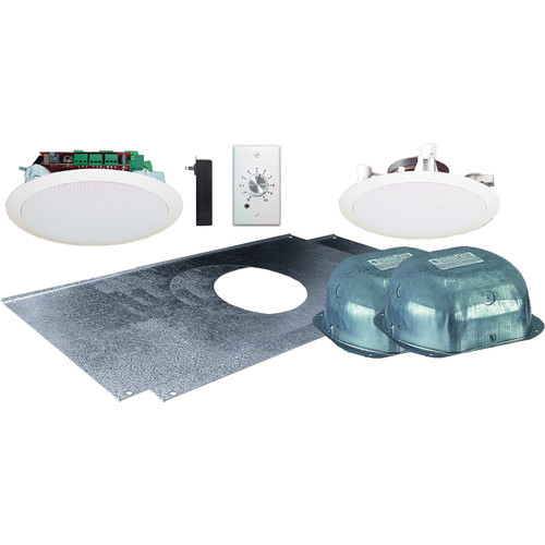 "OWI Inc. AMP-R2SIC52SVC Two-Source 5.25"" Amplified Drop Ceiling Two-Speaker Package with Volume Control"