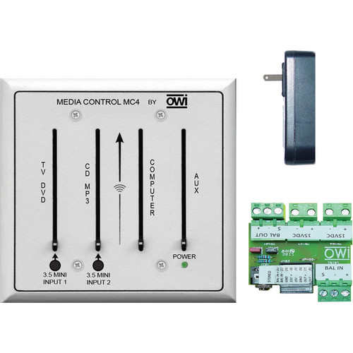 OWI Inc. Media Control 4-Channel Mic/Line Audio Mixer with CAT5 Dongle