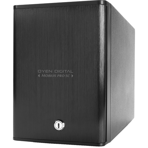 Oyen Digital 40TB Mobius Pro 5C 5-Bay USB Type-C External Drive Array with SoftRAID for MacOS
