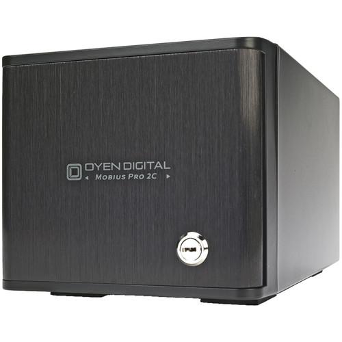 Oyen Digital Mobius Pro 2C 12TB 2-Bay USB 3.1 Gen 2 Type-C RAID Hard Drive Array