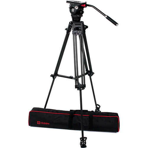 OZEN 75CF2 75mm Carbon Fiber Tripod & Agile 6 Fluid Head System (E-Z-Load)