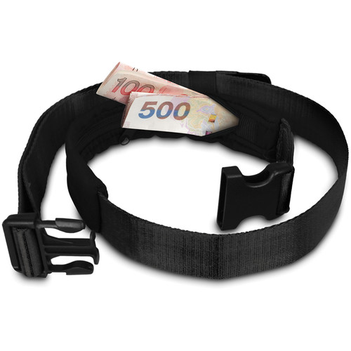 Pacsafe Cashsafe 25 Anti-Theft Deluxe Travel Belt Wallet (Black)