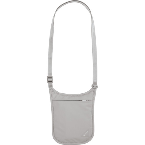 Pacsafe Coversafe V75 RFID Blocking Neck Pouch (Gray)