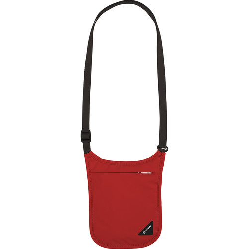 Pacsafe Coversafe V75 RFID Blocking Neck Pouch (Chilli)