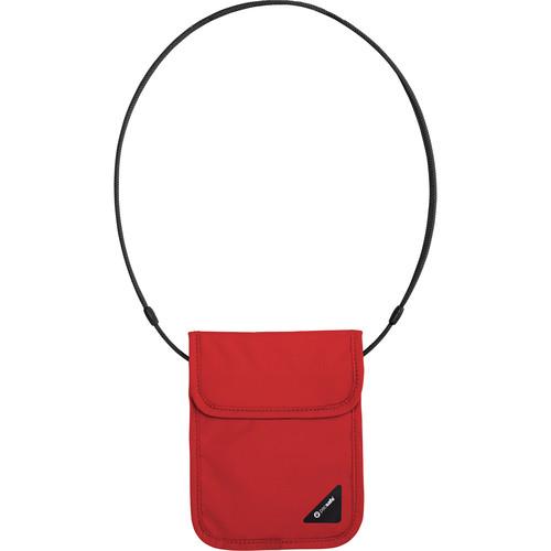 Pacsafe Coversafe X75 Anti-Theft RFID Blocking Neck Pouch (Chili)