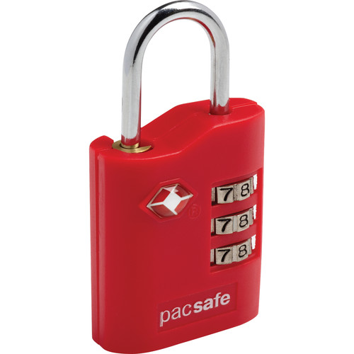Pacsafe Prosafe 700 TSA-Accepted Combination Lock (Red)