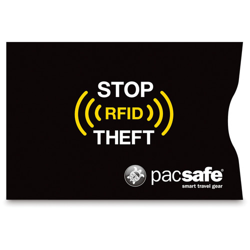 Pacsafe RFIDsleeve 25 RFID-Blocking Credit Card Sleeve (2-Pack, Black)