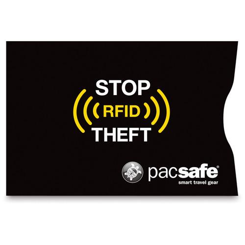 Pacsafe RFIDsleeve 25 RFID-Blocking Credit Card Sleeve (2-Pack, Black)