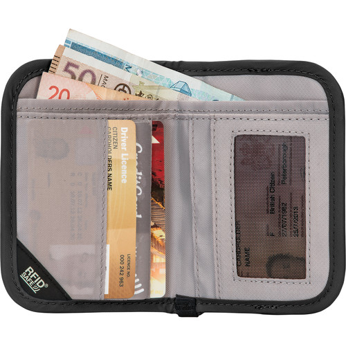 Pacsafe RFIDsafe V50 Anti-theft RFID Blocking Compact Wallet (Black)