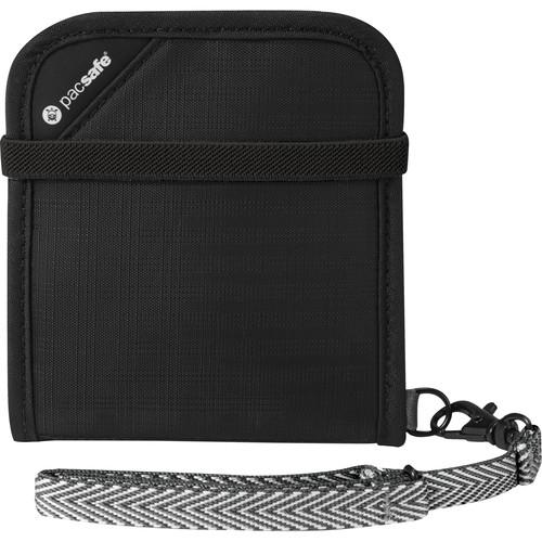 Pacsafe RFIDtec V100 RFID-Blocking Compact Bi-Fold Wallet (Black)