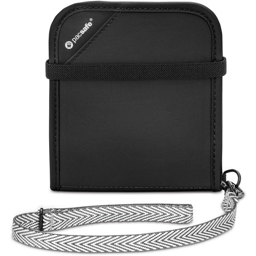 Pacsafe RFIDsafe V100 RFID Blocking Bi-Fold Wallet (Black)