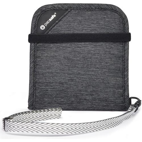 Pacsafe RFIDsafe V100 RFID Blocking Bi-Fold Wallet (Granite Melange)