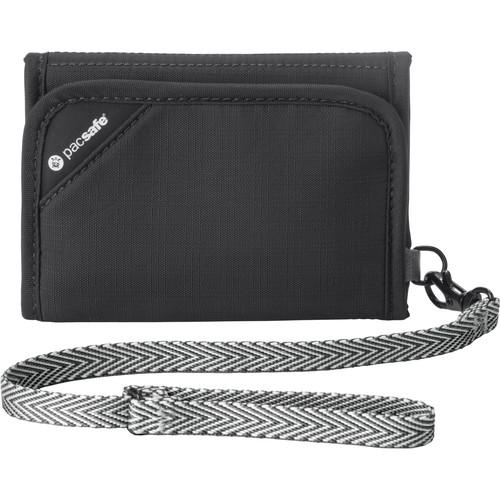 Pacsafe Anti-Theft RFID Blockng Tri-Fold Wallet (Black)