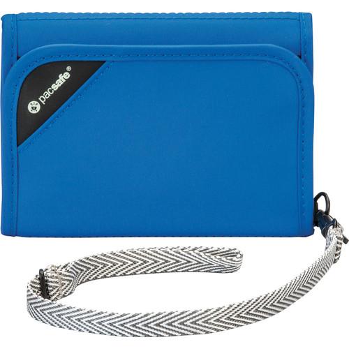 Pacsafe RFIDsafe V125 Anti-Theft RFID Blocking Tri-Fold Wallet (Blue)