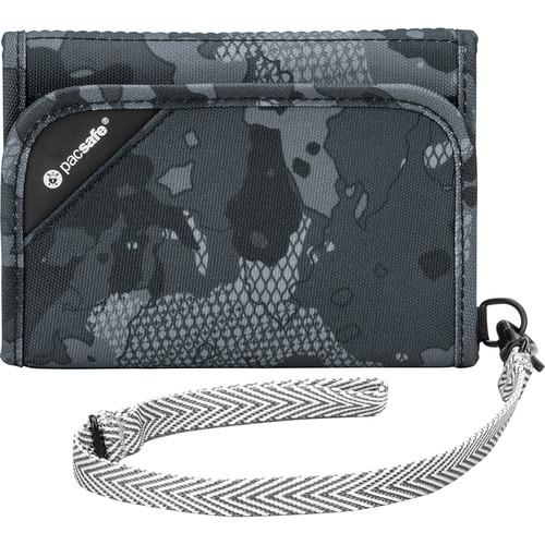 Pacsafe RFIDsafe V125 Anti-Theft RFID Blocking Tri-Fold Wallet (Gray Camo)