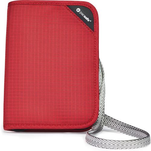 Pacsafe RFIDsafe V150 Anti-Theft RFID Blocking Compact Organizer (Goji Berry)