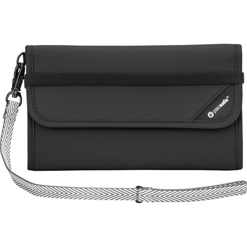 Pacsafe V250 Anti-Theft RFID Blocking Travel Wallet (Black)