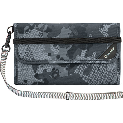 Pacsafe V250 Anti-Theft RFID Blocking Travel Wallet (Gray Camo)
