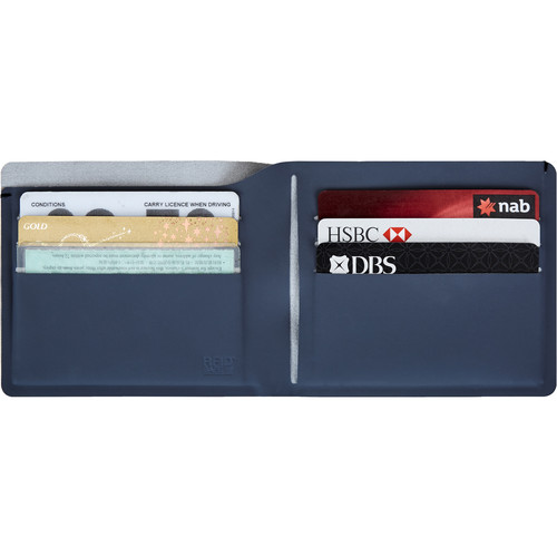 Pacsafe RFIDsafe TEC Slim Bi-Fold Wallet (Navy Blue)