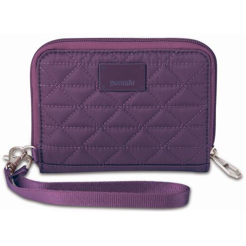 Pacsafe RFIDSAFE W100 RFID-Blocking Wallet (Mulberry)