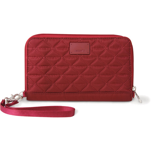 Pacsafe RFIDsafe W200 RFID-Blocking Travel Wallet (Cranberry)