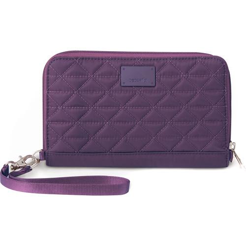 Pacsafe RFIDsafe W200 RFID-Blocking Travel Wallet (Mulberry)