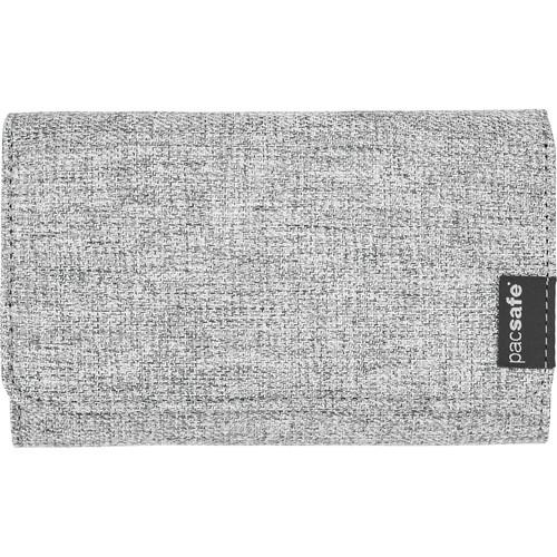 Pacsafe RFIDsafe LX100 RFID Blocking Wallet (Tweed Gray)
