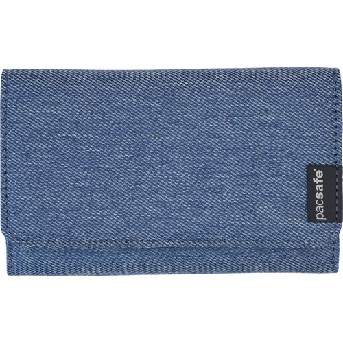 Pacsafe RFIDsafe LX100 RFID Blocking Wallet (Denim)