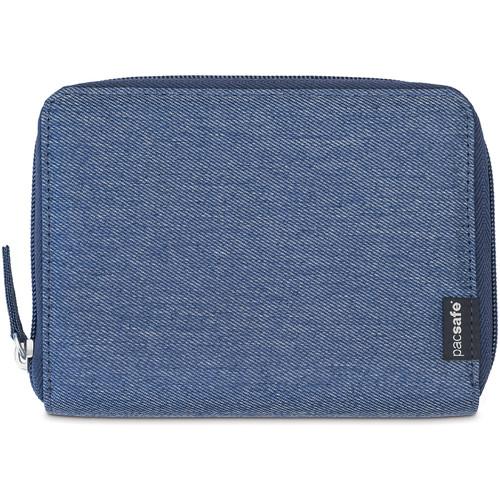 Pacsafe LX150 RFID Blocking Zippered Passport Wallet (Denim)