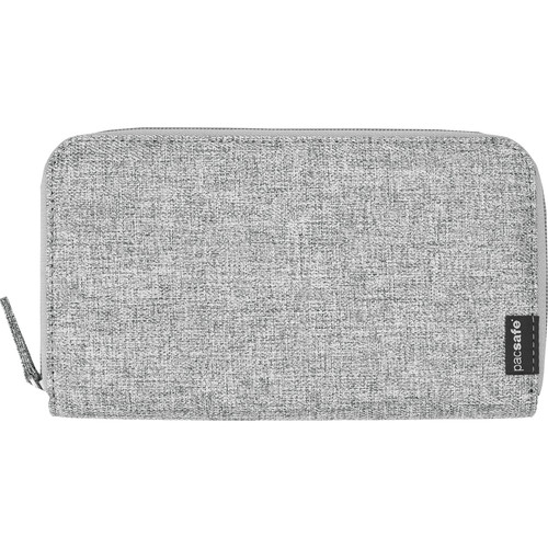 Pacsafe RFIDsafe LX250 RFID Blocking Zippered Travel Wallet (Tweed Gray)