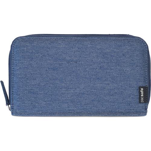 Pacsafe RFIDsafe LX250 RFID Blocking Zippered Travel Wallet (Denim)