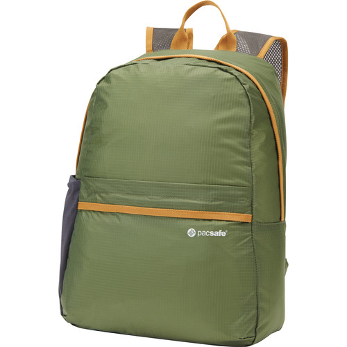 Pacsafe Pouchsafe PX15 Anti-Theft Packable Day Pack (Olive and Khaki)