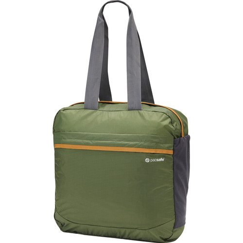 Pacsafe Pouchsafe PX25 Anti-Theft Packable Tote (Olive and Khaki)