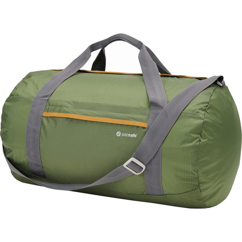 Pacsafe Pouchsafe PX40 Anti-Theft Packable Duffel (Olive and Khaki)