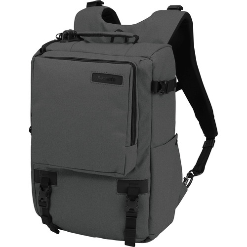 "Pacsafe Camsafe Z16 Anti-Theft Camera and 13"" Laptop Backpack (Charcoal)"