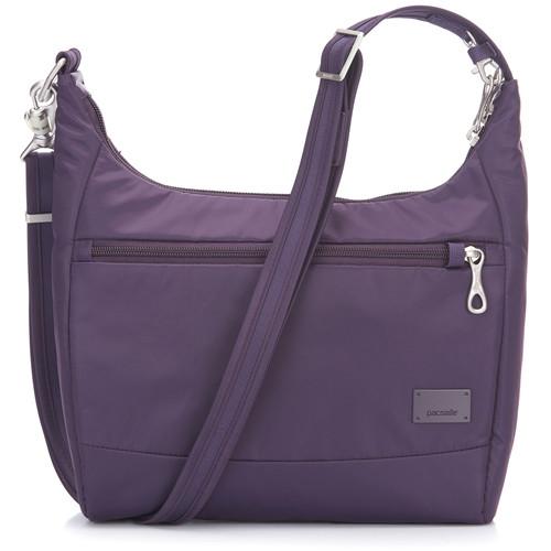Pacsafe Citysafe CS100 Anti-Theft Travel Handbag (Mulberry)