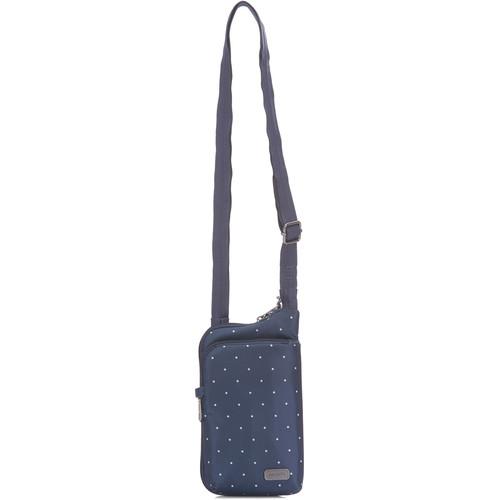 Pacsafe Daysafe Anti-Theft Tech Crossbody Bag (Navy Polka Dot)