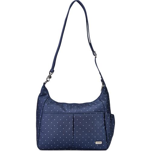 Pacsafe Daysafe Anti-Theft Crossbody Bag (Navy Polka Dot)