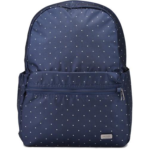 Pacsafe Daysafe 16L Anti-Theft Backpack (Navy Polka Dot)