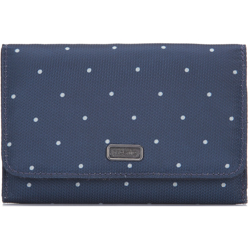 Pacsafe Daysafe Trifold Wallet RFID Blocking (Navy Polka Dot)