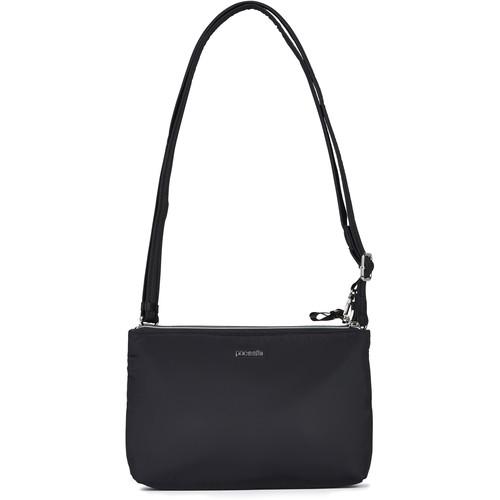 Pacsafe Stylesafe Anti-Theft Double Zip Crossbody Bag (Black)
