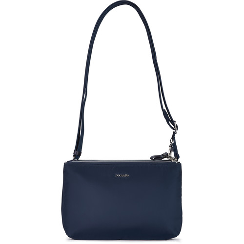 Pacsafe Stylesafe Anti-Theft Double Zip Crossbody Bag (Navy)
