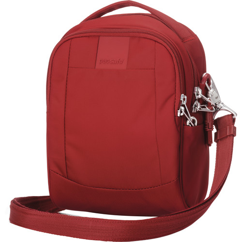 Pacsafe Metrosafe LS100 Anti-Theft Cross-Body Bag (Vintage Red)